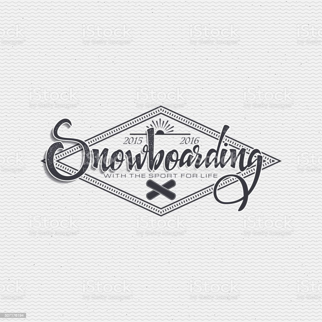 Snowboard badge and label It can be used to design vector art illustration