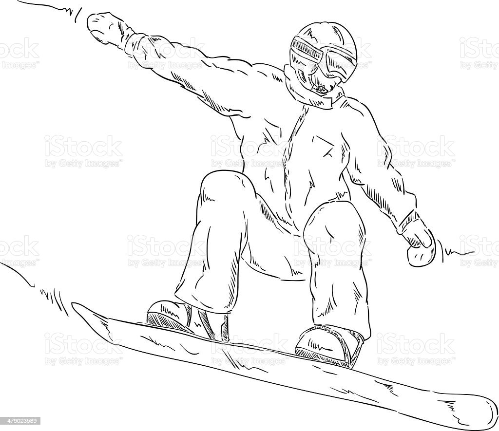 snowboard royalty-free stock vector art