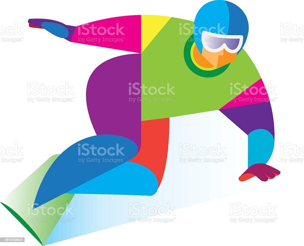 Snowboard vector art illustration