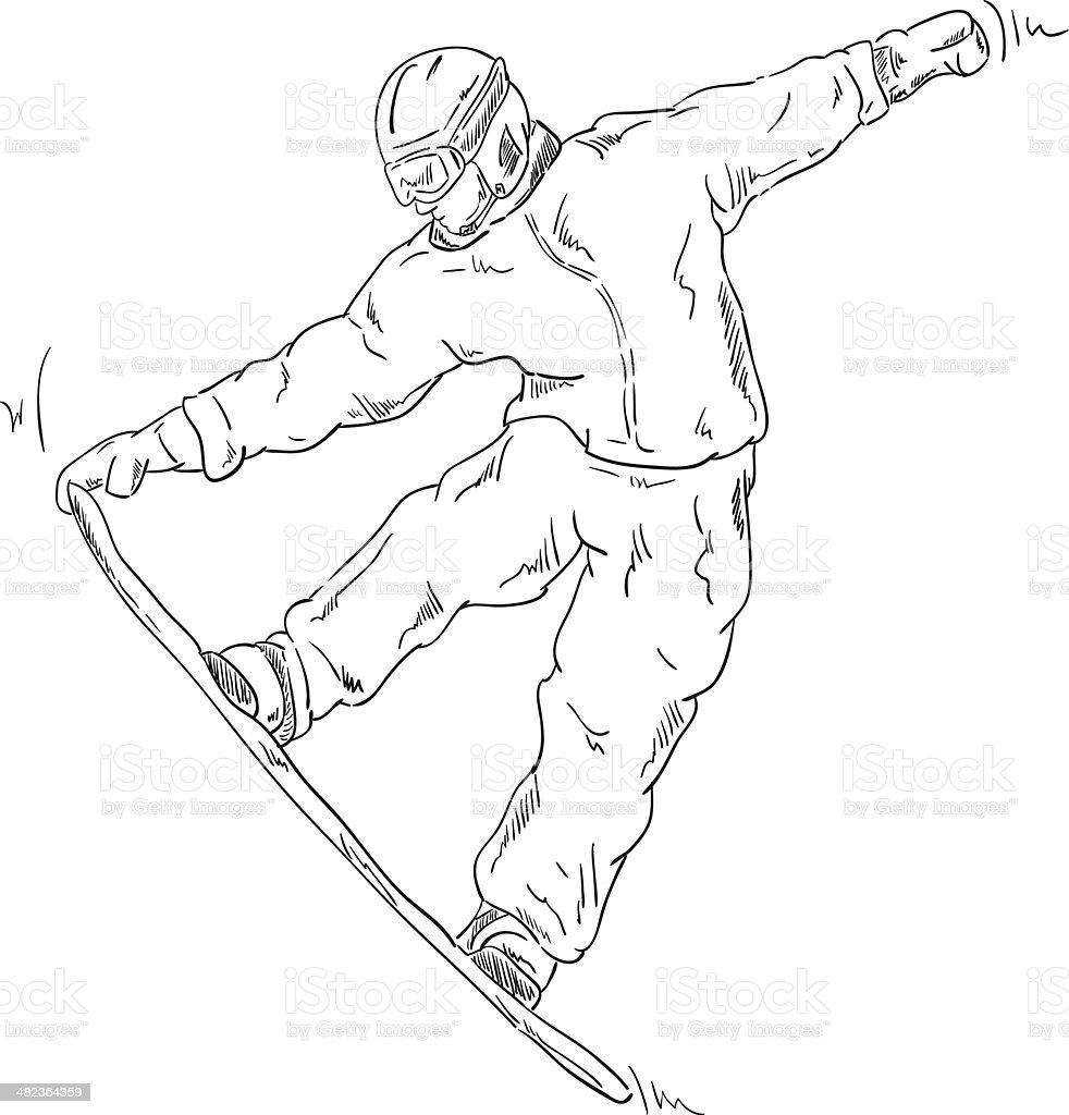 snowboard royalty-free stock vector art