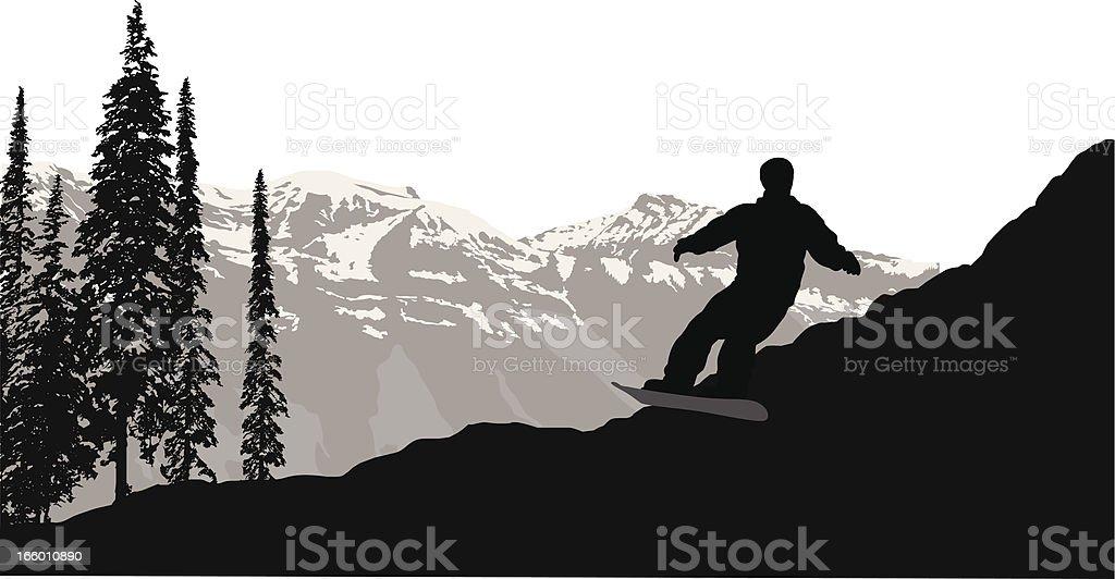 Snowboard White royalty-free stock vector art