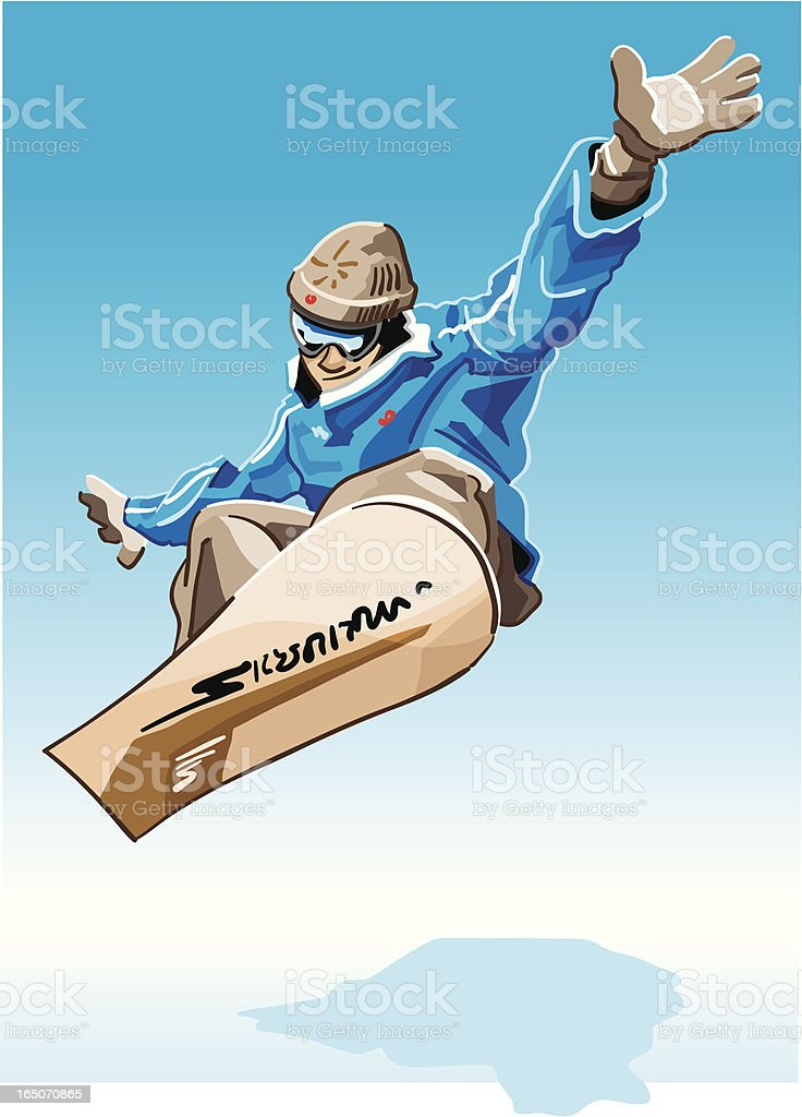 Snowboarder Blue royalty-free stock vector art