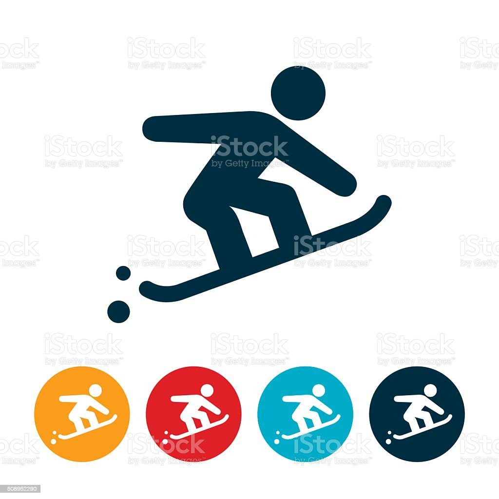 Snowboarder Icon vector art illustration