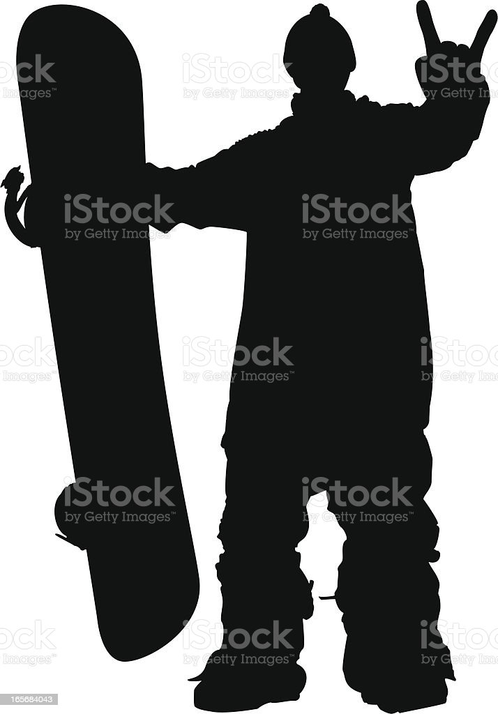 snowboarder silhouette royalty-free stock vector art