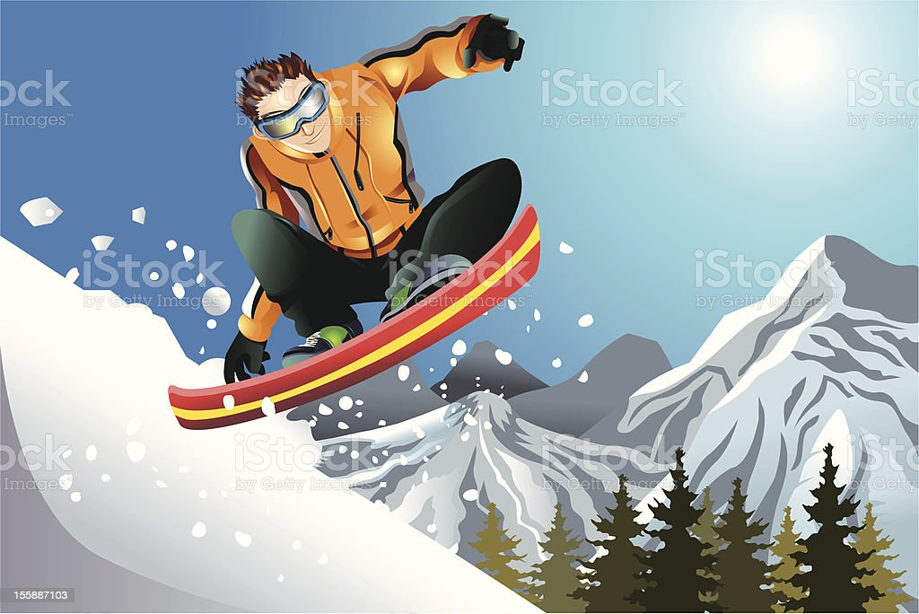 Snowboarder royalty-free stock vector art