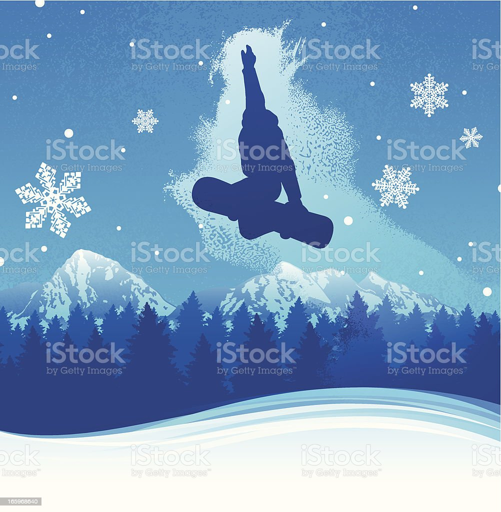 Snowboarding Background royalty-free stock vector art