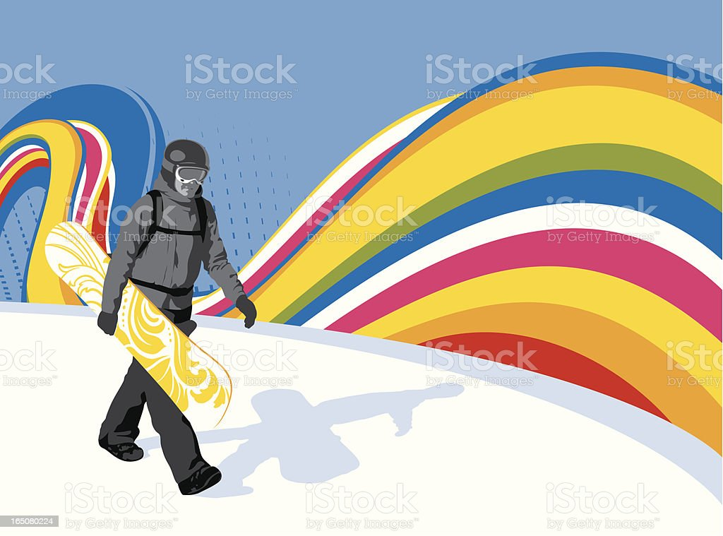 Snowboarding flow royalty-free stock vector art