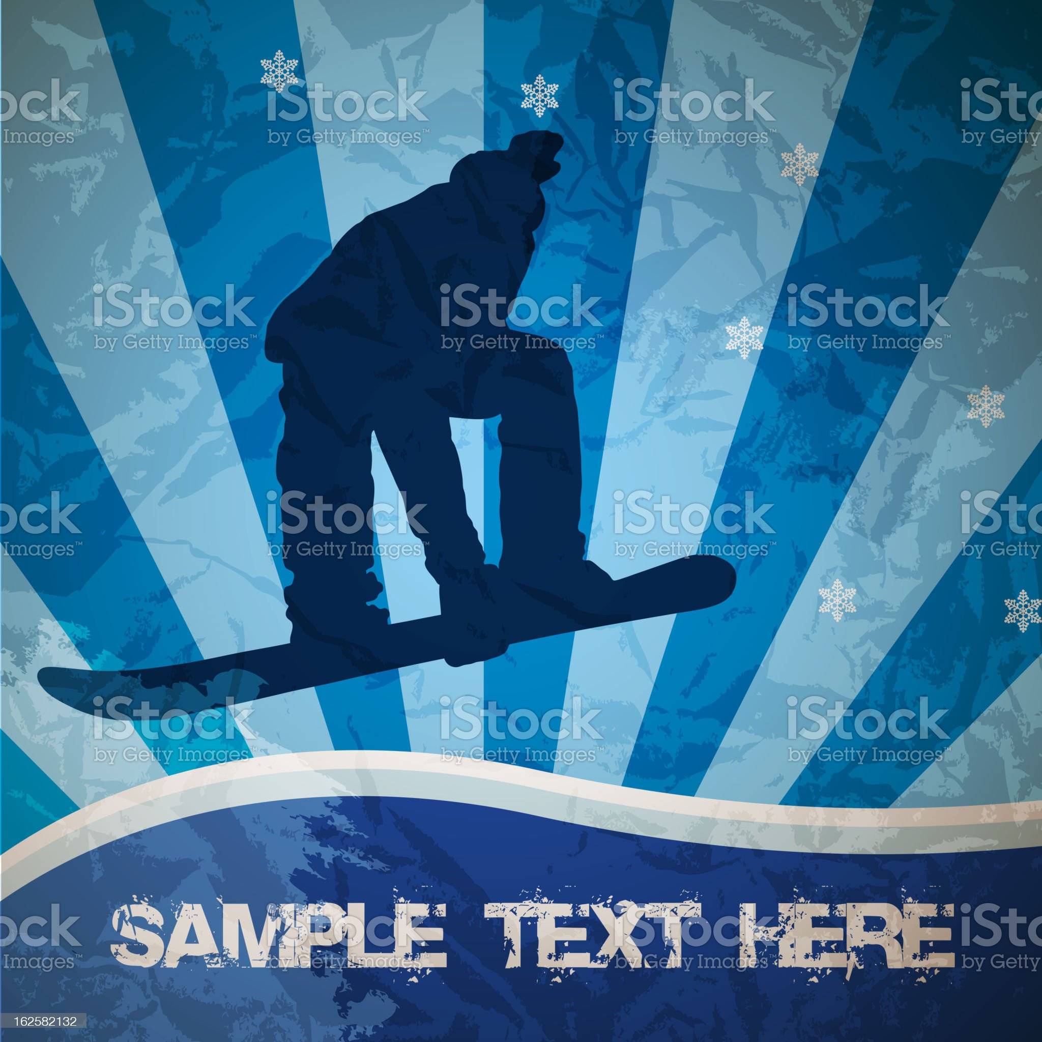 snowboarding vector illustration royalty-free stock vector art
