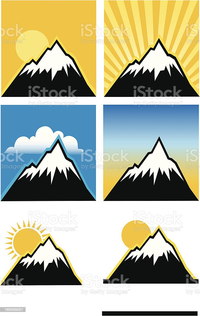 Snow-Capped Mountains royalty-free stock vector art