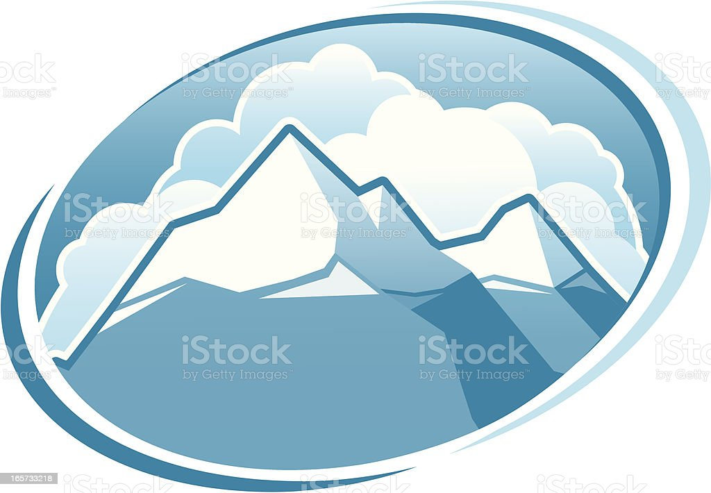 Snowcapped Mountains royalty-free stock vector art