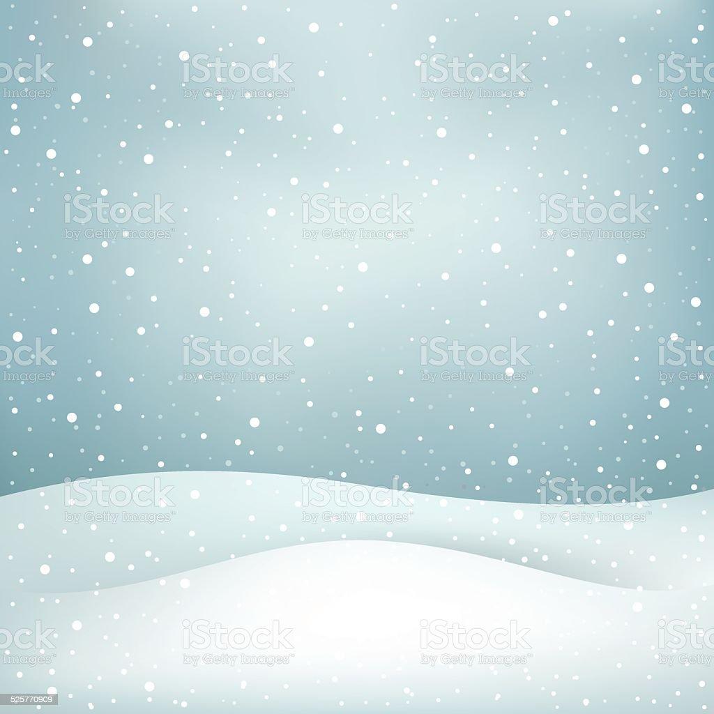 snowfall background vector art illustration