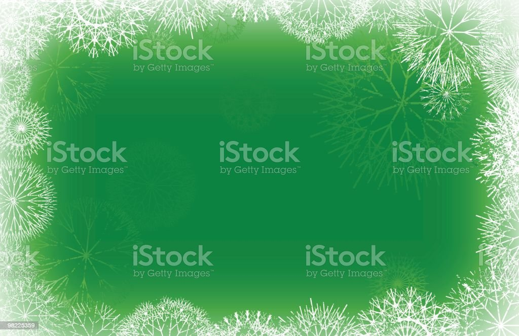 Snowfall Frame royalty-free stock vector art