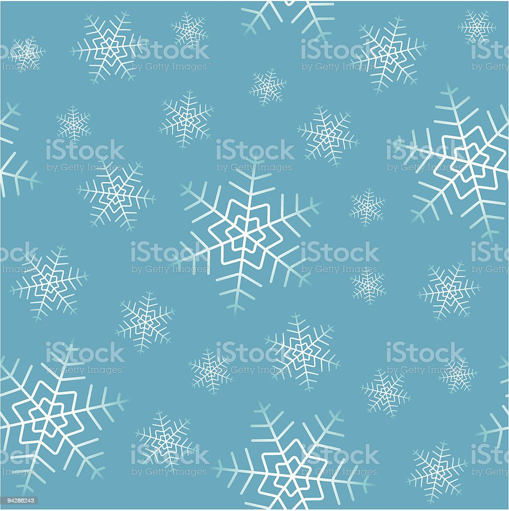 Snowfall seamless vector wallpaper royalty-free stock vector art