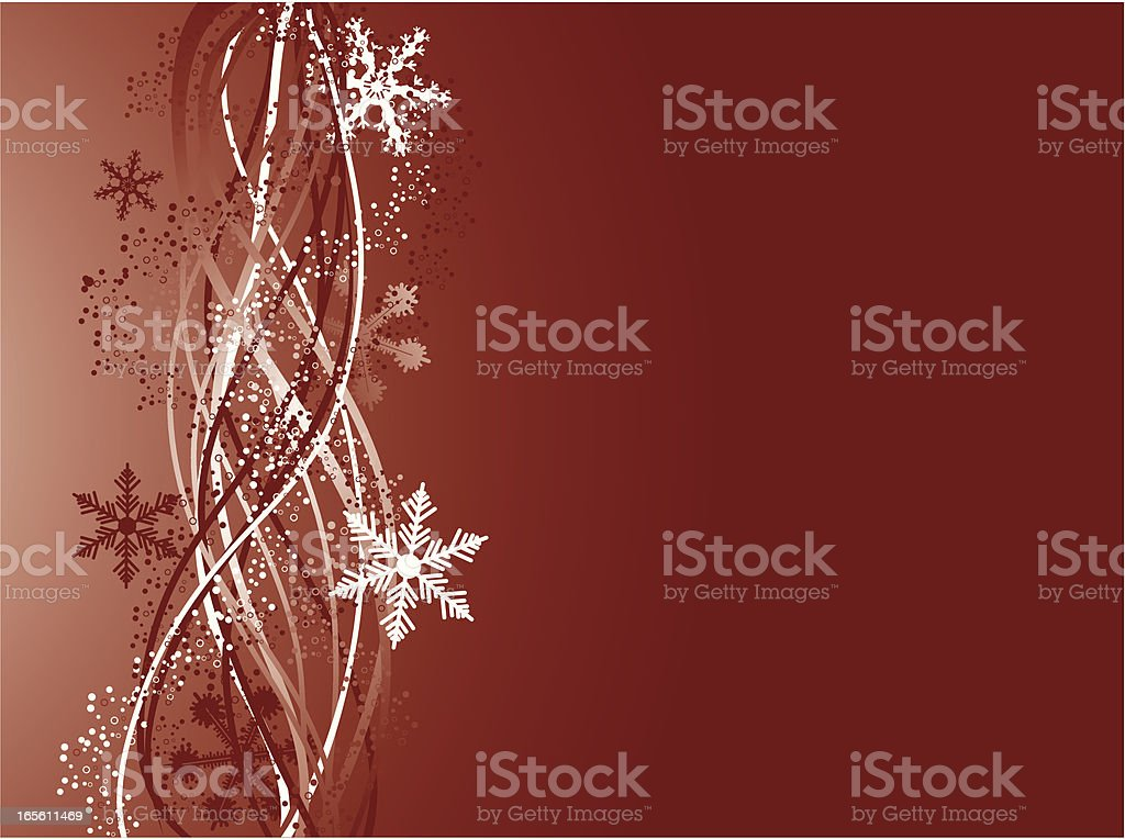 Snowflake and Swirls royalty-free stock vector art