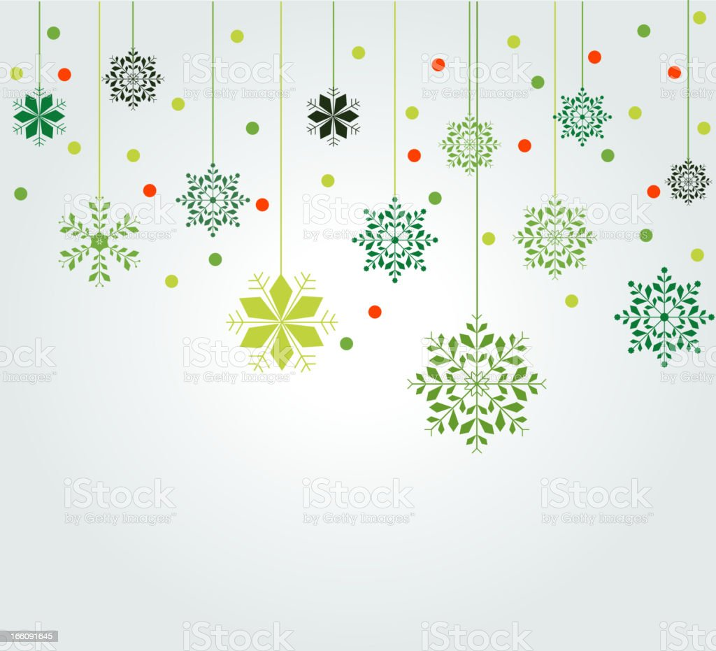 snowflake background vector art illustration