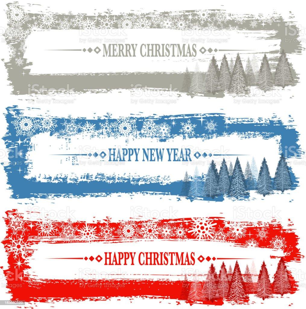 snowflake banner royalty-free stock vector art