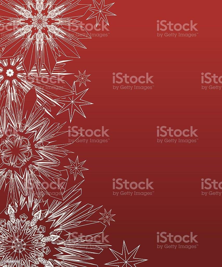 Snowflake Border royalty-free stock vector art
