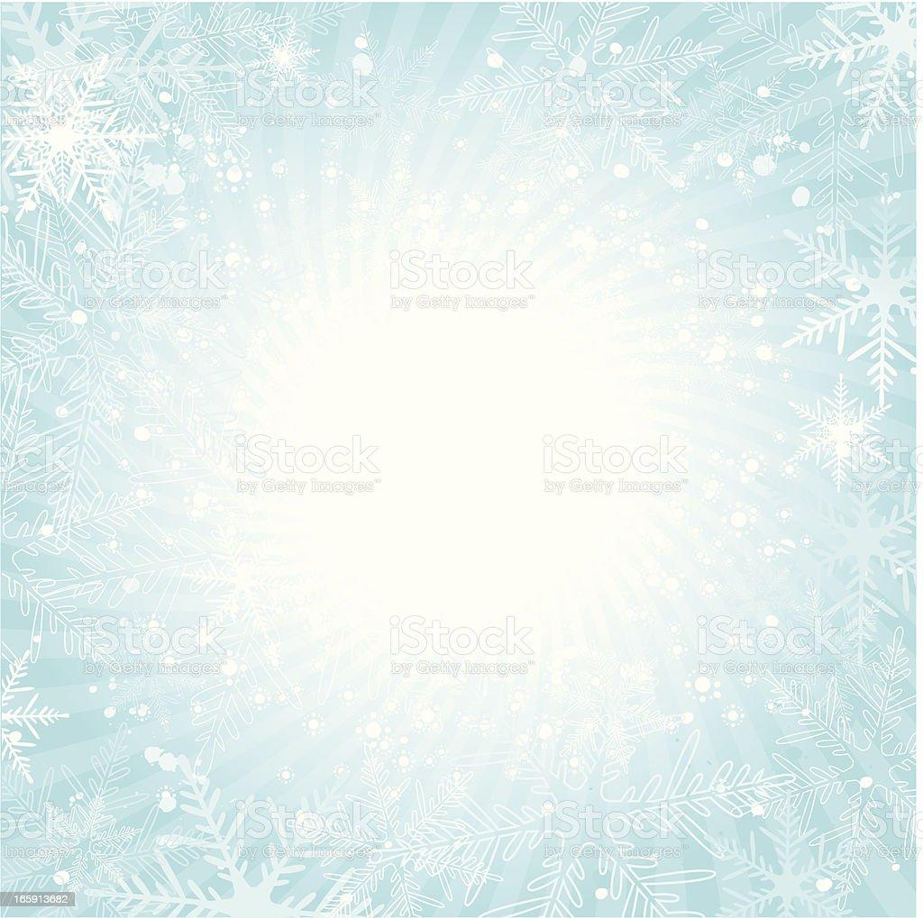 Snowflake burst background royalty-free stock vector art