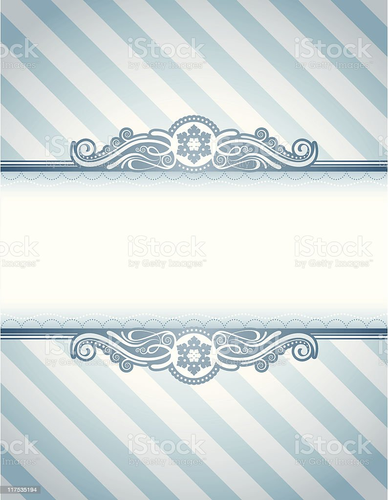 Snowflake Candy Frame royalty-free stock vector art