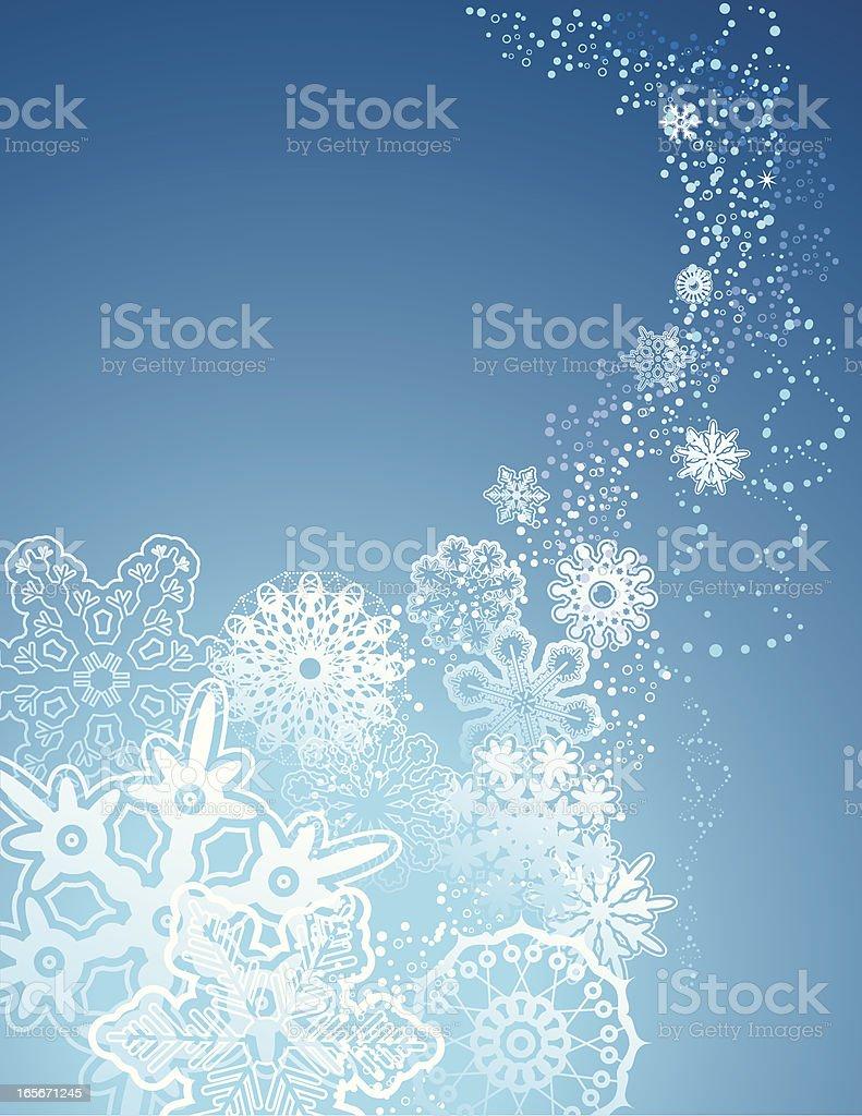 snowflake christmas card royalty-free stock vector art