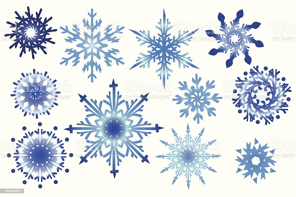 Snowflake collection royalty-free stock vector art