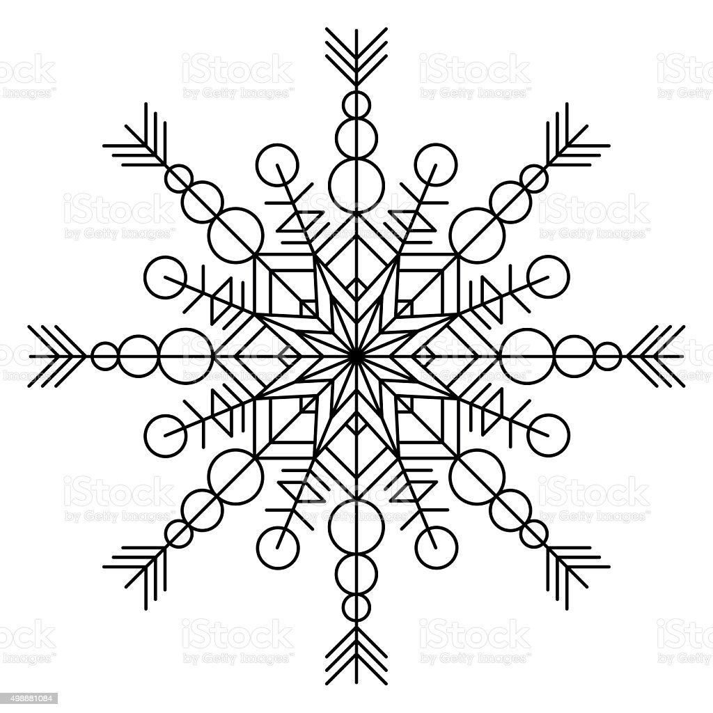 Coloring book snowflake - Snowflake Coloring Book Royalty Free Stock Vector Art