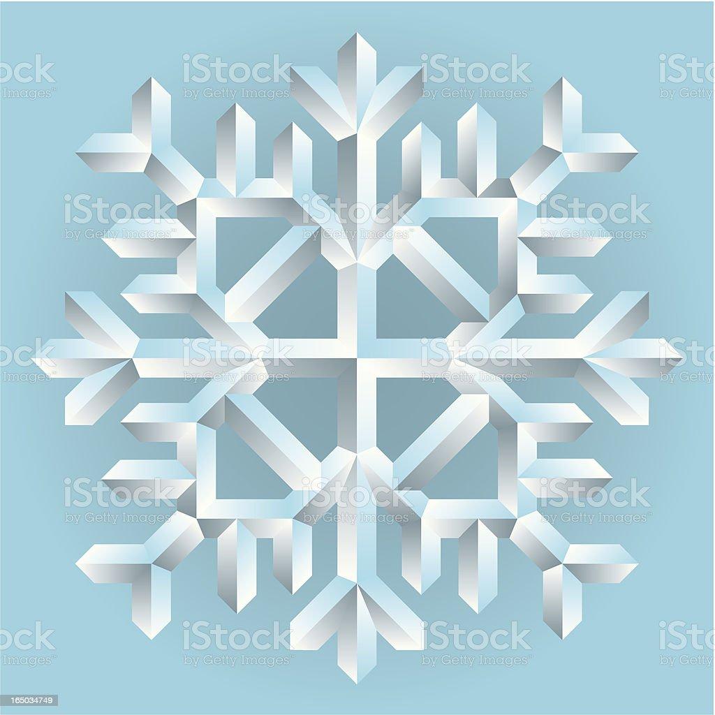 snowflake crystal royalty-free stock vector art