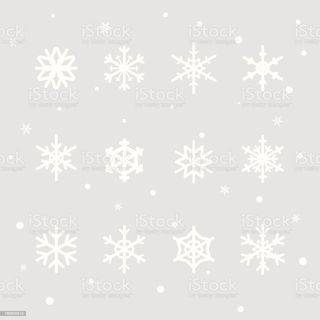 Snowflake Design Elements royalty-free stock vector art
