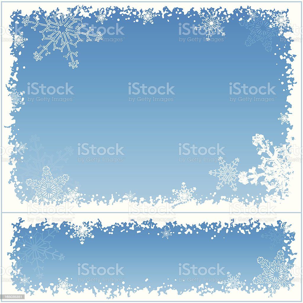 Snowflake frame 02 vector art illustration