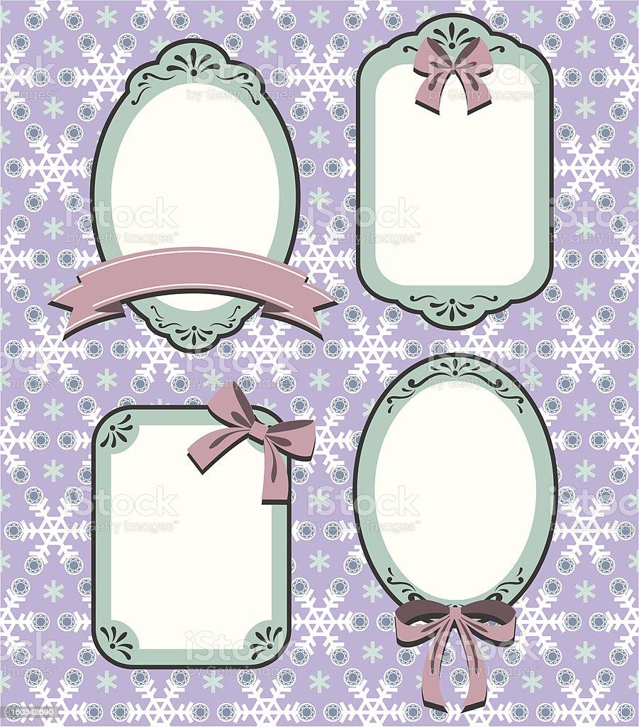 Snowflake Frame 03 vector art illustration