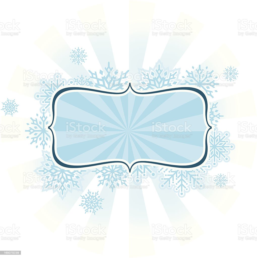 Snowflake Frame in Blue royalty-free stock vector art