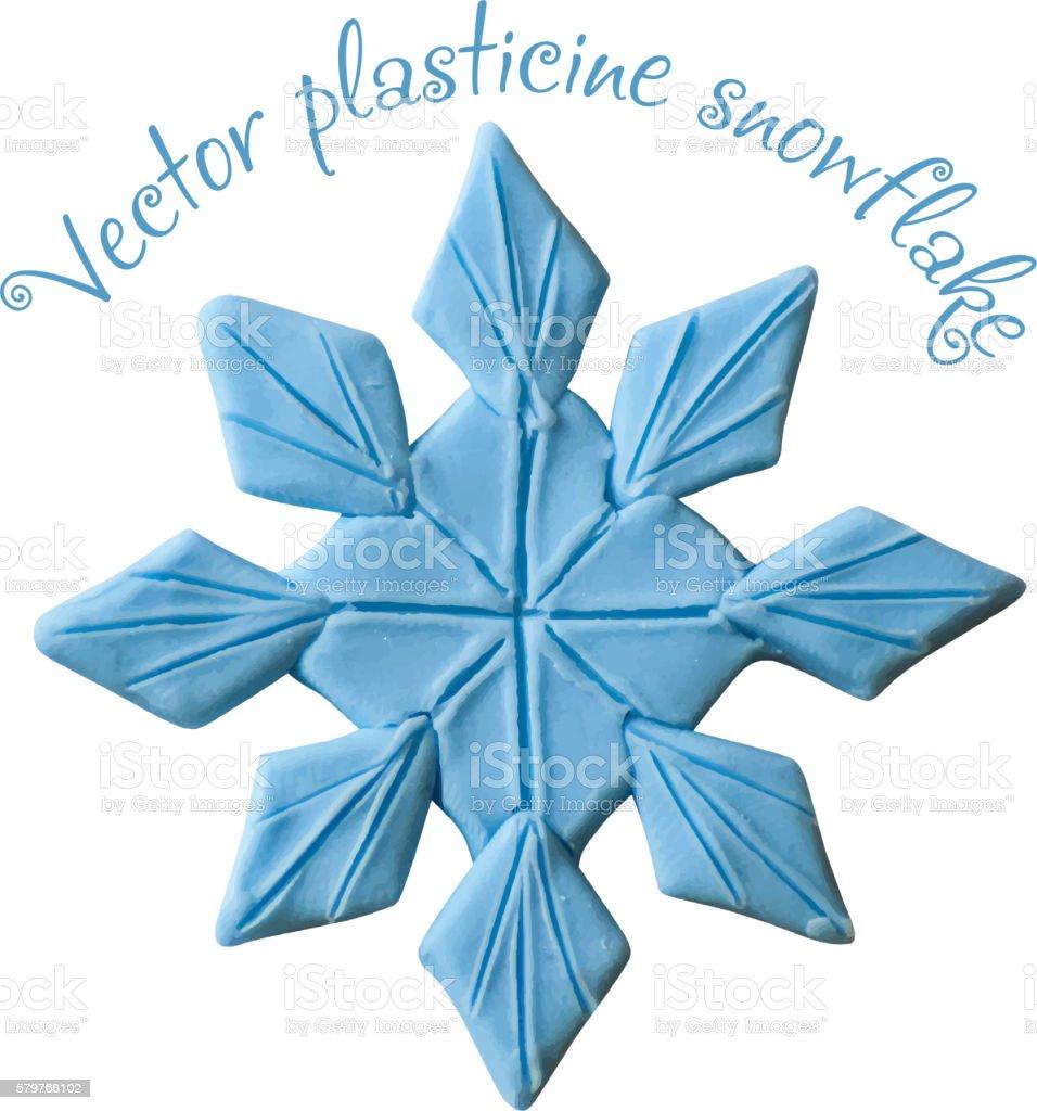 Snowflake from plasticine. vector art illustration
