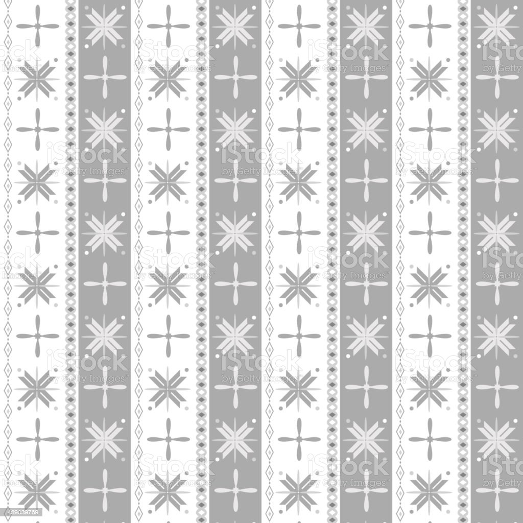 Snowflake geometric pattern vector art illustration
