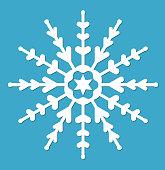 Snowflake.  icon flat style.  design elements. Vector illustration