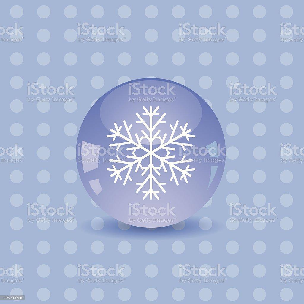 snowflake icon royalty-free stock vector art