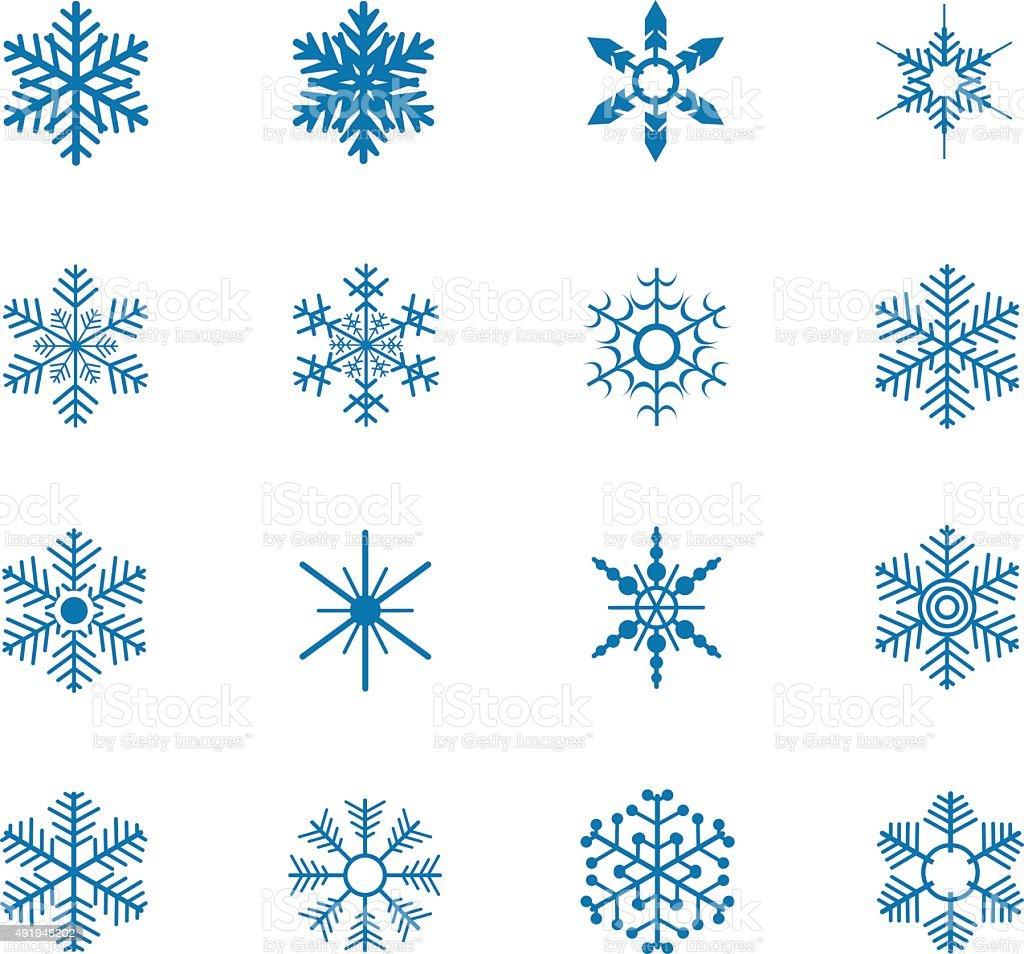 Snowflake icons vector art illustration