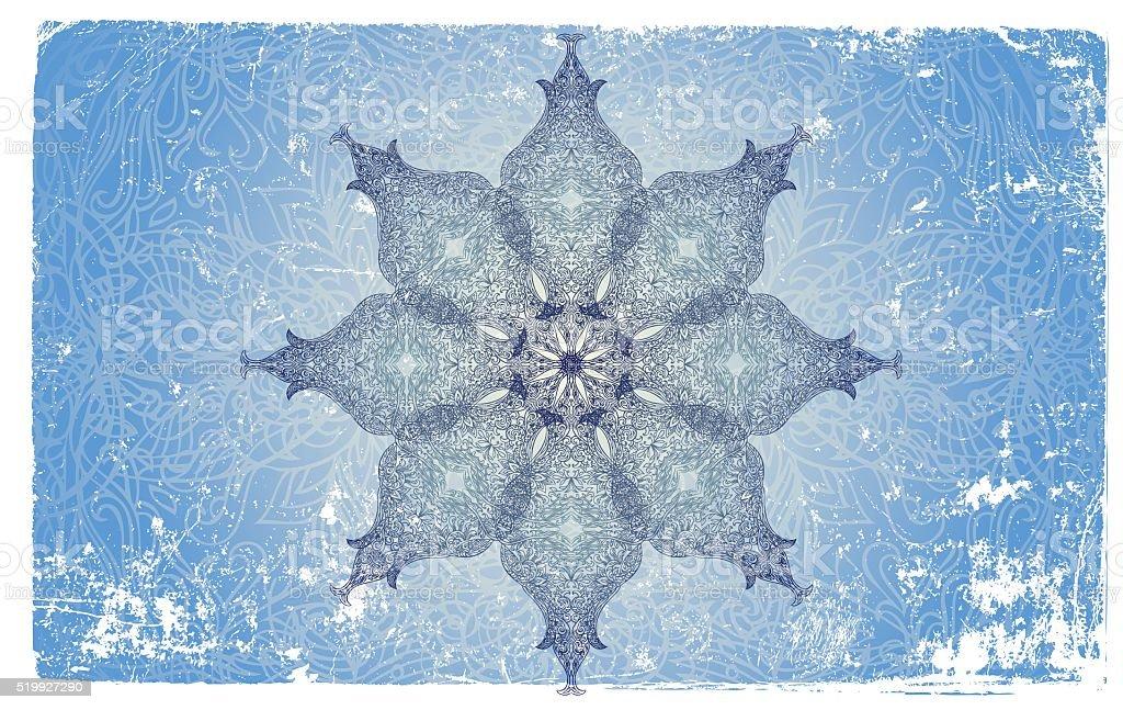 snowflake mandala vector art illustration