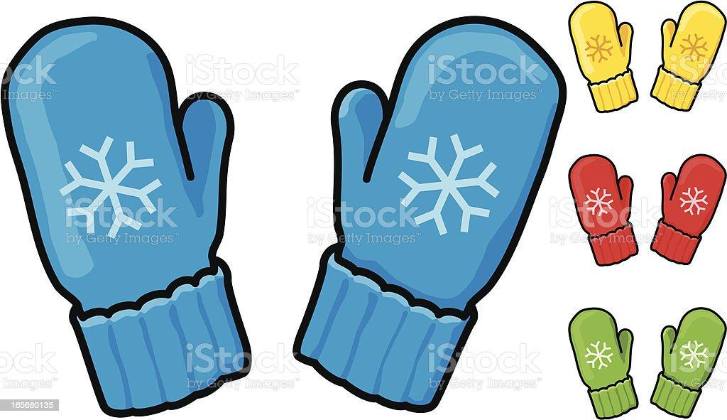 Snowflake Mittens royalty-free stock vector art