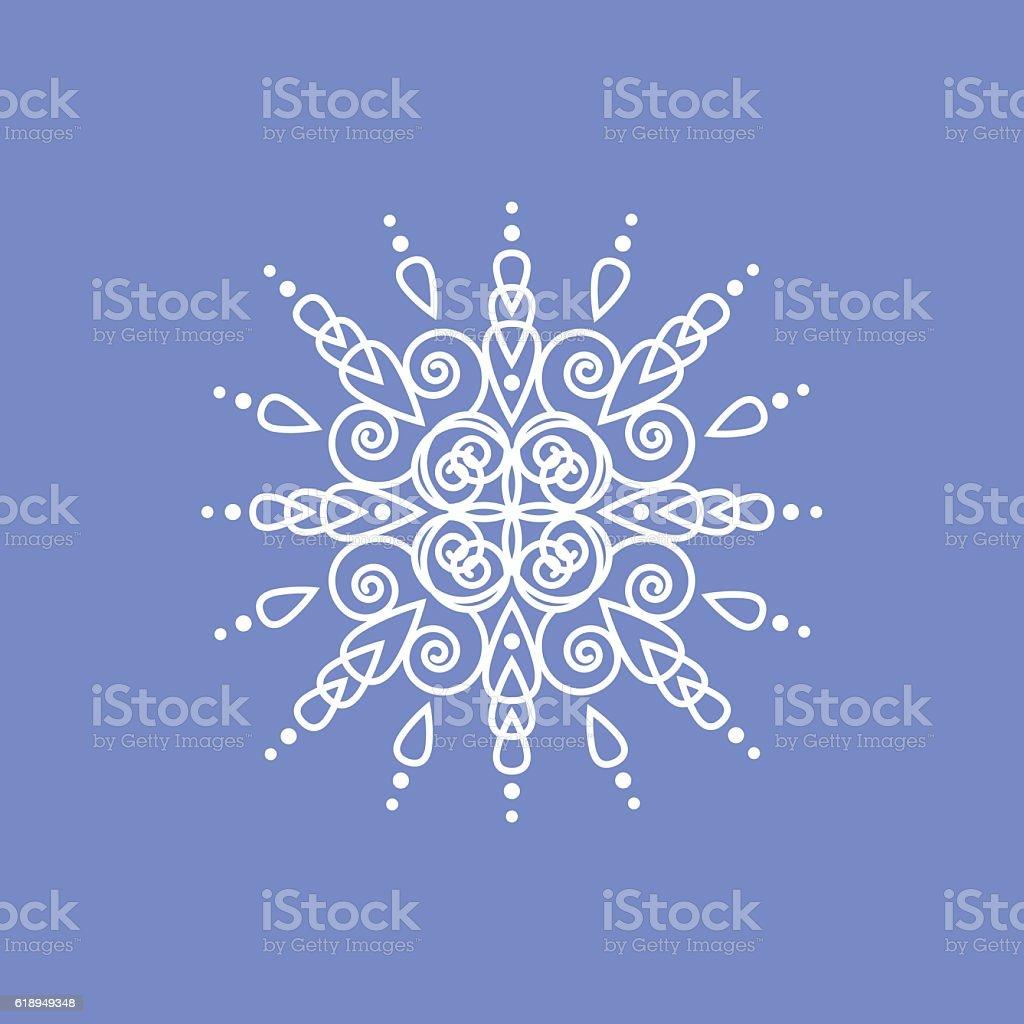 Snowflake on blue background for winter invitation card vector logo snowflake on blue background for winter invitation card vector logo download vetor e ilustrao royalty stopboris Choice Image