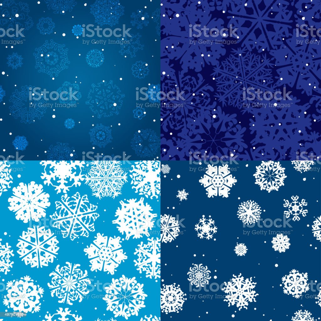 Snowflake Pattern. Seamless vector texture. Christmas and new year concept vector art illustration