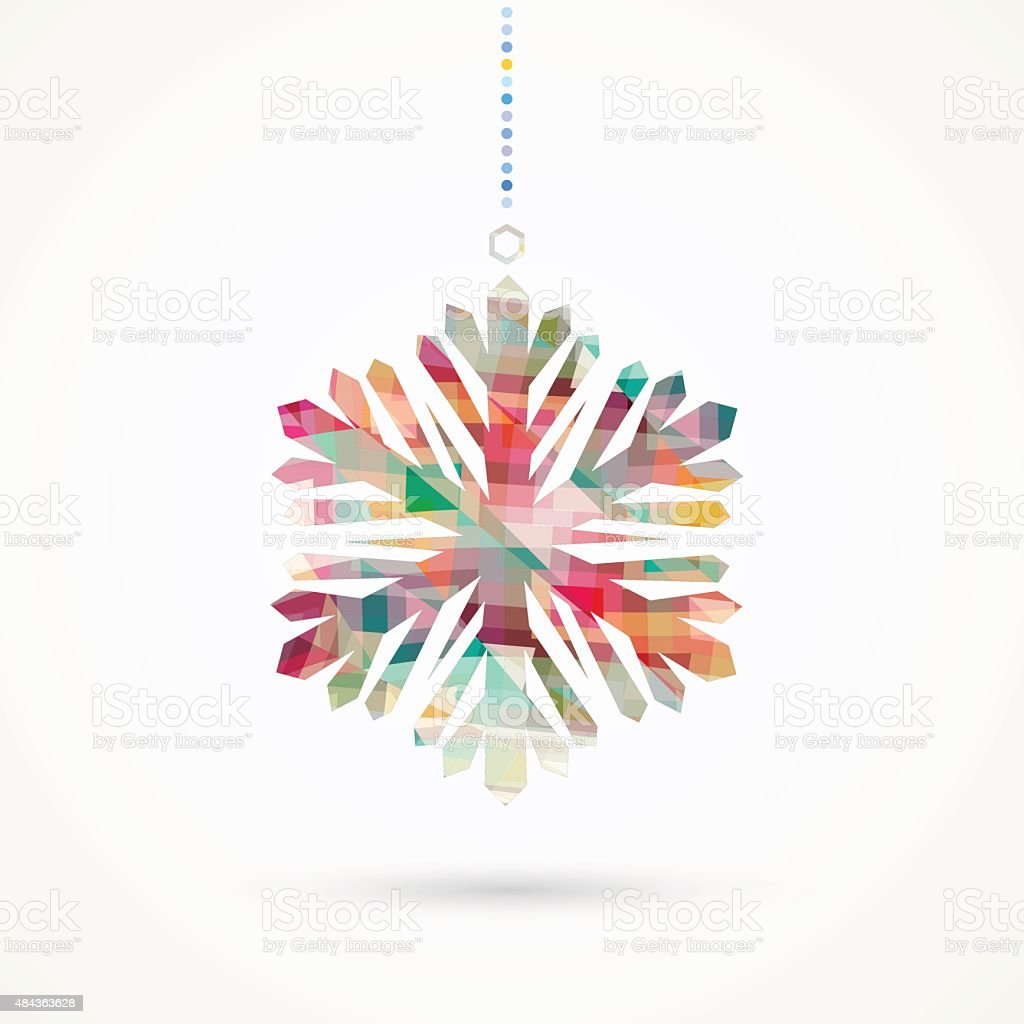 snowflake pattern vector art illustration
