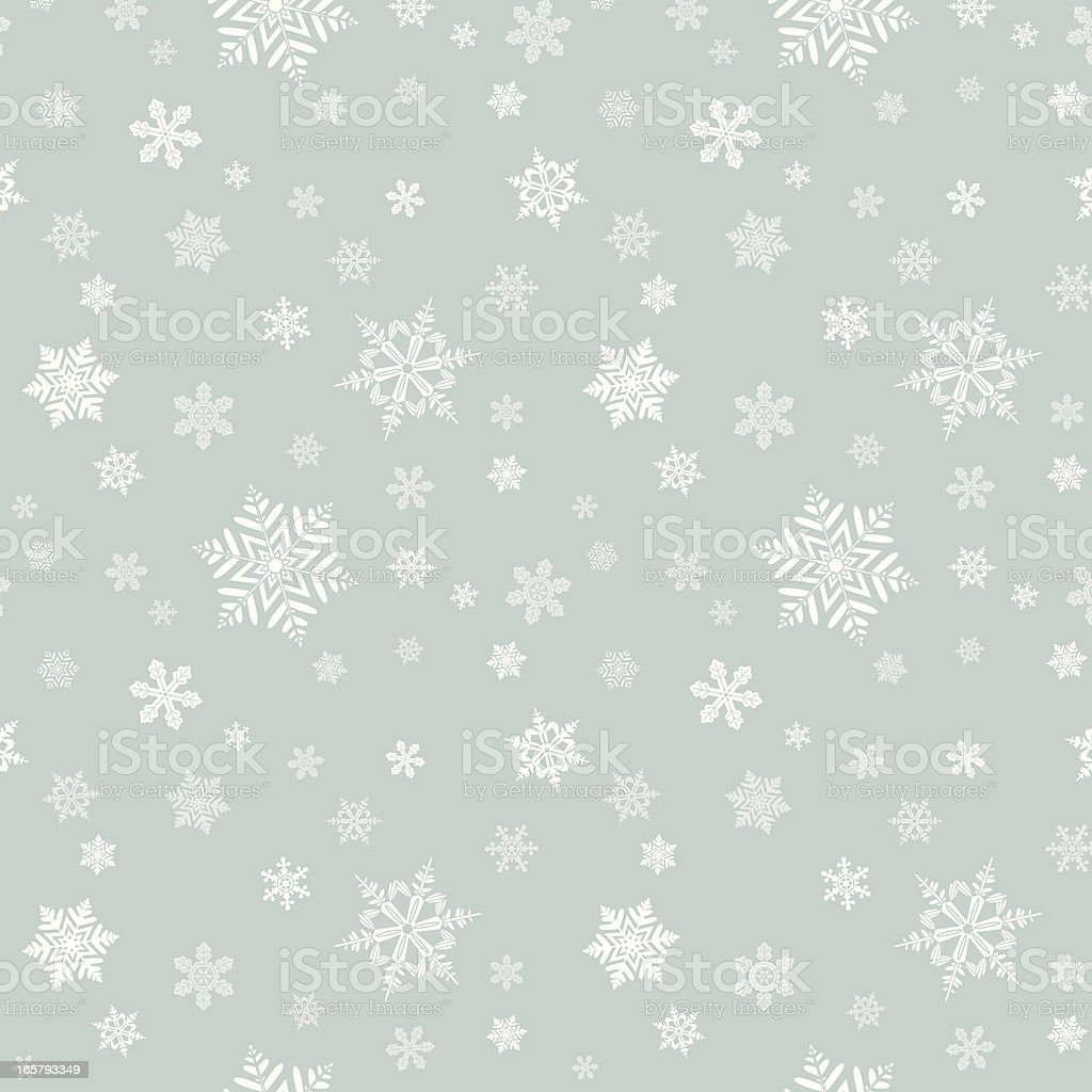 Snowflake Seamless Pattern royalty-free stock vector art
