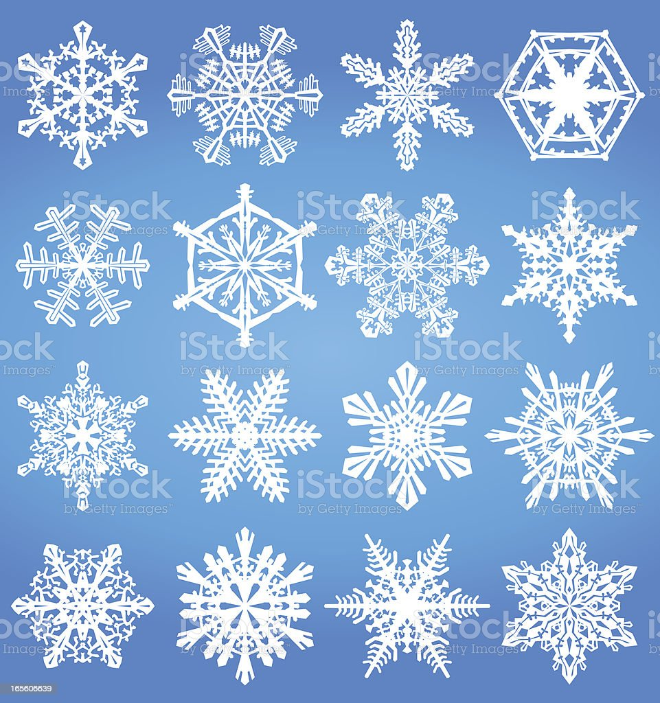 Snowflake set royalty-free stock vector art