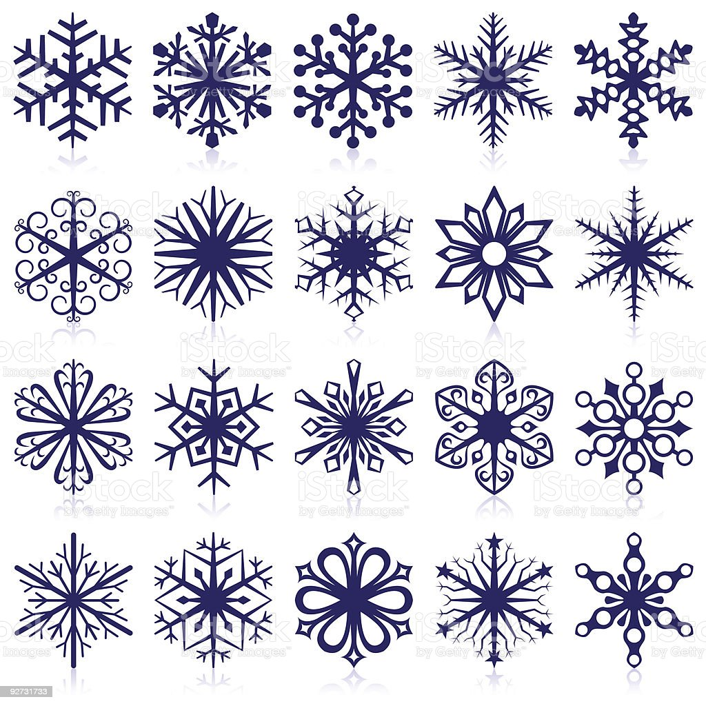 Snowflake shapes royalty-free stock vector art