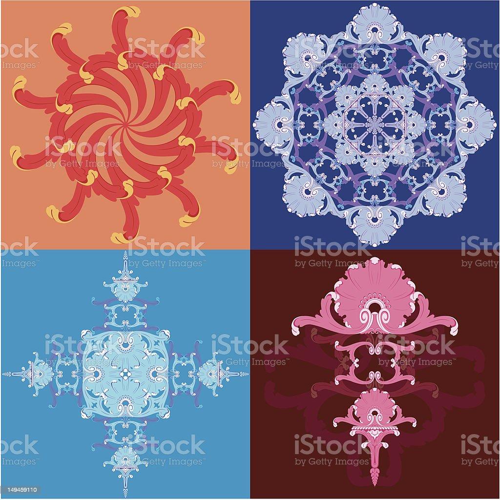 snowflake sun new year decoration royalty-free stock vector art
