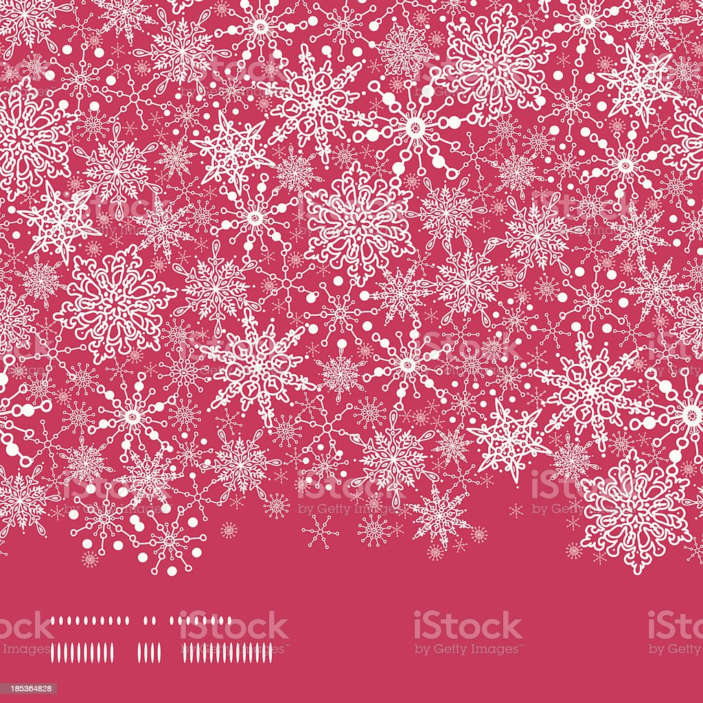 Snowflake Texture Horizontal Border Seamless Pattern Background royalty-free stock vector art