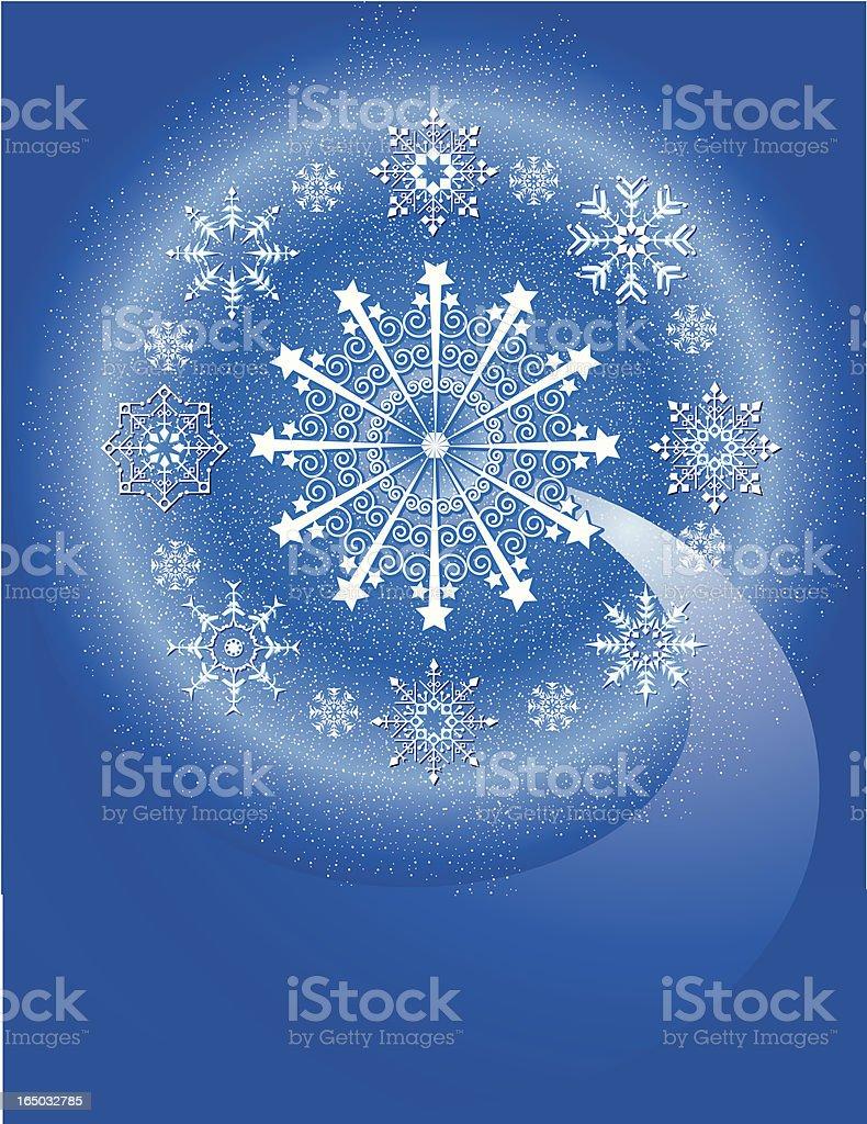 snowflake universe 2 royalty-free stock vector art