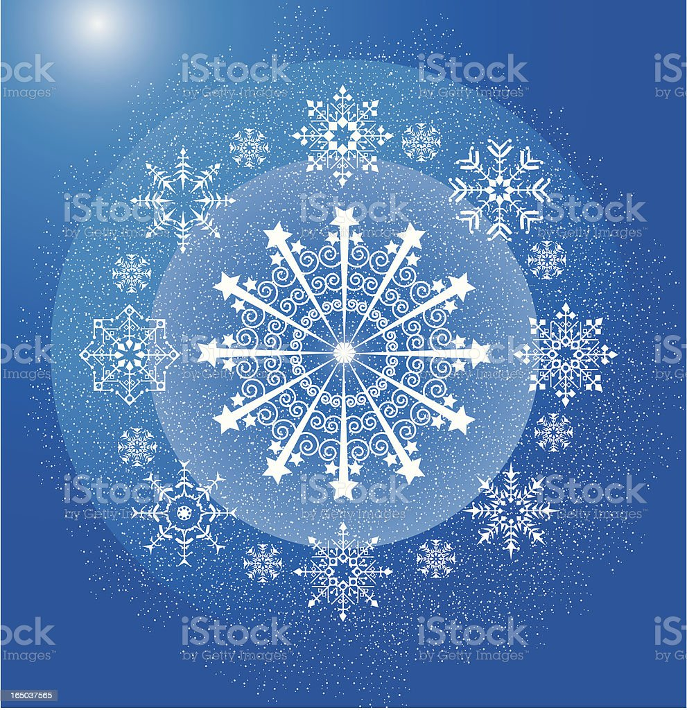 snowflake universe Holiday background royalty-free stock vector art