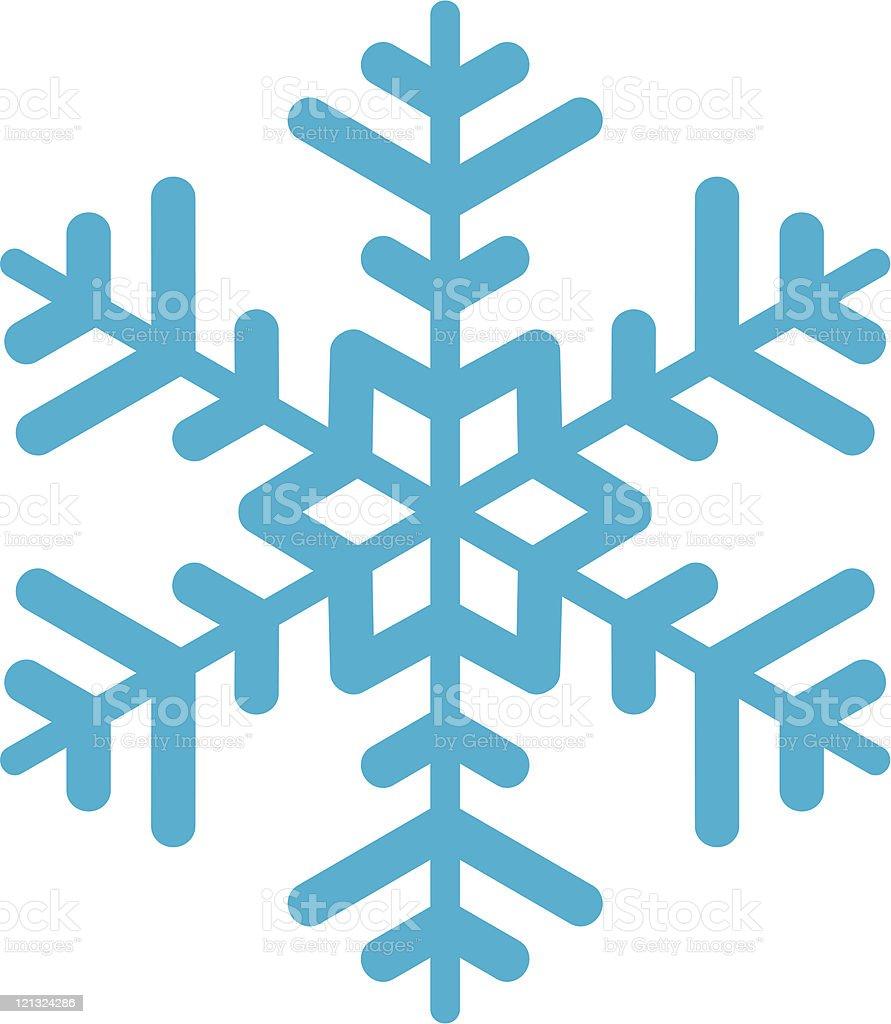 Snowflake. vector art illustration