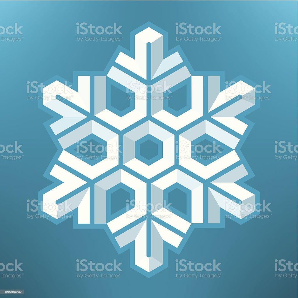 Snowflake (1 credit) royalty-free stock vector art